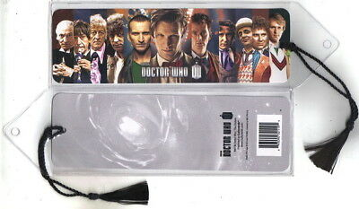 """Doctor Who 1st Eleven Doctors Lineup 2 1/4"""" x 7 1/8"""" Bookmark 2013, MINT SEALED"""