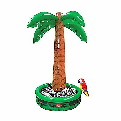 6ft Inflatable Palm Tree Drink Cooler Parrot Hawaiian Pirate Party Decoration BN