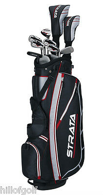 New 2015 Mens Strata 12 Piece Complete Golf Set...New In Box