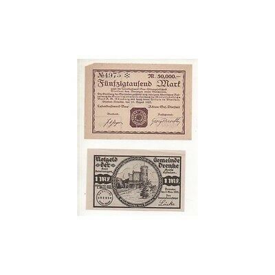 NOTGELD - DIETFURT - 2 different notes - 50,000 mark & 1 mark (D030) [D030 D