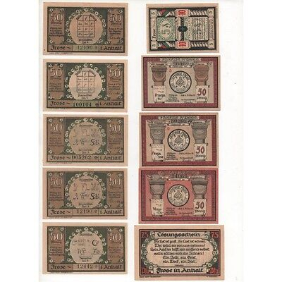 NOTGELD - FROSE - 20 different notes - 5 & 6 numbers (F069) [F069 DEUTCH.]