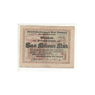 NOTGELD - GELSENKIRCHEN - 2 millionen mark (G017) [G017 DEUTCH.]
