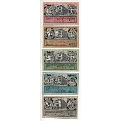 NOTGELD - GOCH - 5 different notes (G052) [G052 DEUTCH.]