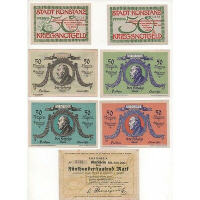 NOTGELD - KONSTANZ - 12 different notes (K085) -.K085 ALLEM