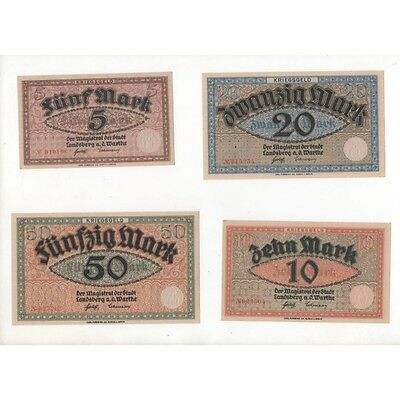 NOTGELD - LANDSBERG - 4 different notes (L012) -.L012 ALLEM