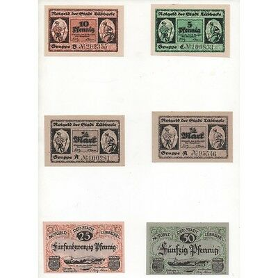 NOTGELD - LÜBBECKE - 6 different notes (L087 B) -.L087 B ALLEM