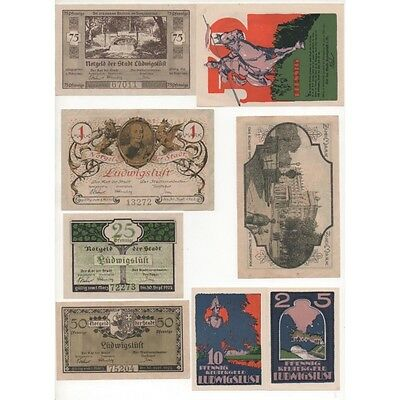 NOTGELD - LUDNIGSLUST - 8 different notes (L104) -.L104 ALLEM