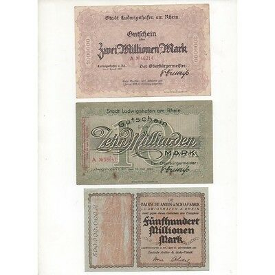 NOTGELD - LUDWIGSHAFEN - 10 different notes (L105) -.L105 ALLEM