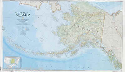 NEW National Geographic Alaska AK State Wall Map Standard RE01020587