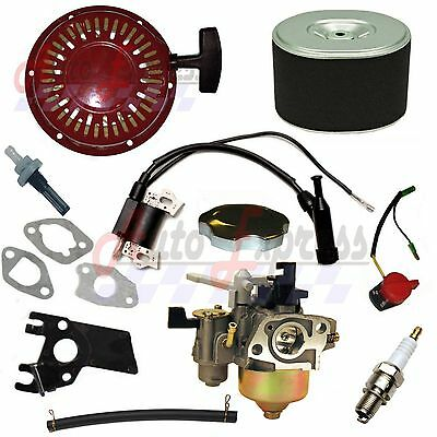 Honda Gx160 Gx200 Recoil Carburetor Ignition Coil Spark Plug Air Filter Gas Cap