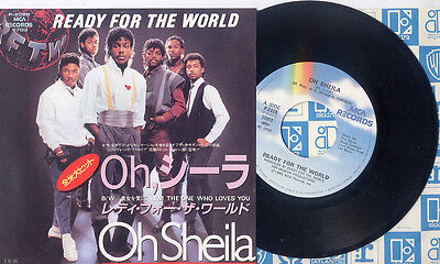 "READY FOR THE WORLD  OH SHEILA  JAPAN 7""SINGLE  ULTRA RARE!!!"