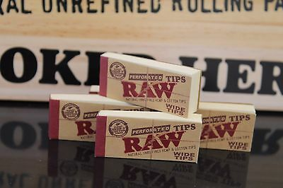 10 PACKS OF RAW ROLLING PAPER WIDE TIPS FILTER CHEMICAL FREE (50 Sheets per pk
