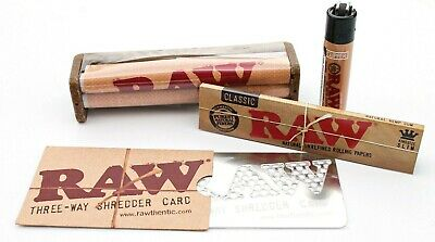 RAW KING SIZE Rolling Papers+ raw 110mm RAW ROLLER+RAW CARD+bamboo mat+light