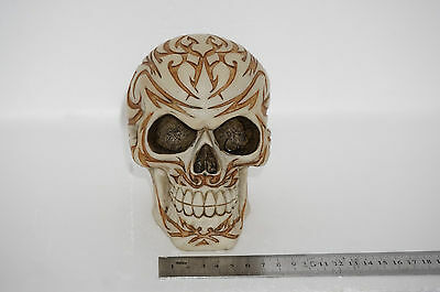Skull Tribal Skullhead Witch Figurine Gothic skeleton head tattoo tribal 12cm