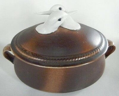 OUTSTANDING ITALIAN COVERED CASSEROLE WITH BIRD FINIAL