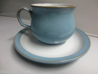 Denby Colonial Blue Pattern Tea Cup And Saucer Pottery - Stoneware Tableware