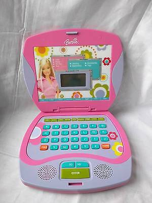 Mattel 2003 Barbie Laptop w Flower Dsgn Buttons for Chat Email Search Web Surf