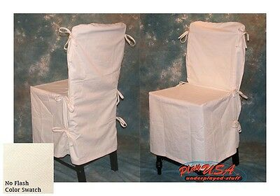 8 Natural / Cream POTTERY BARN Dining Chair SLIPCOVERS