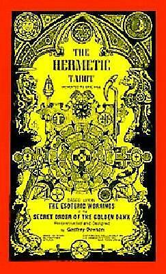 The Hermetic Tarot Deck by Godfrey Dowson (English) Cards Book Free Shipping!
