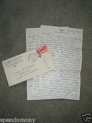 Letter from 343rd Fighter Group T.S. - Tyndall Field, Florida 1943