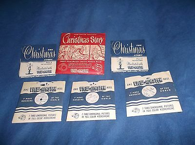1950's Sawyer's Viewmaster 3 Reel Packet of Christmas Story