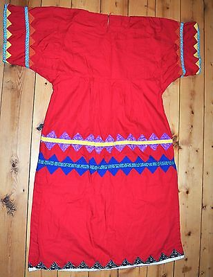 Hand Made Red Ceremony Native Style Sweat Lodge Dress From Colombia