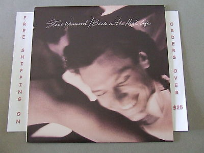 STEVE WINWOOD, BACK IN THE HIGH LIFE LP WITH ORIG LYRIC INNER SLEEVE