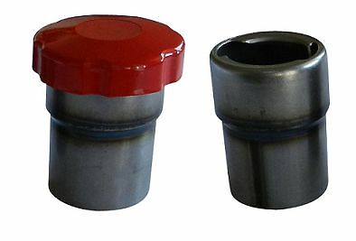 Heavy Duty Steel Gas Tank Filler Neck & Rust Proof Vented Red Cap for Gas Tank