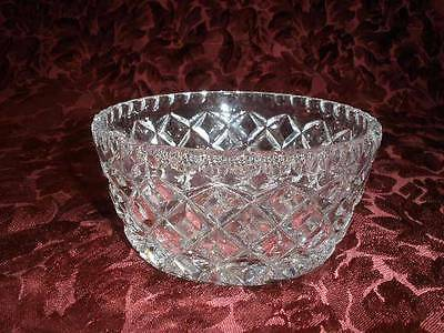 Stunning 24% Lead Crystal  Patterned Dish