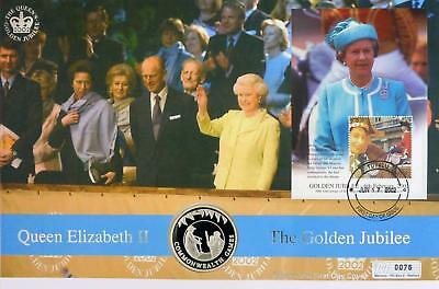 2002 Falklands Islands Commonwealth Games Silver Proof 50p Crown First Day Cover