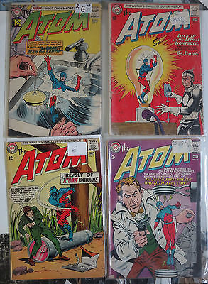 The Atom (1962) #2-15 Lot of 4Diff Silver Age Science Fiction Adventures PalmerA