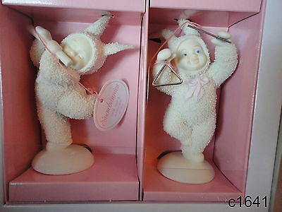 Dept 56 Snowbunnies HOP SKIP AND A MELODY (Set of 2) Figurine 26301 New In Box