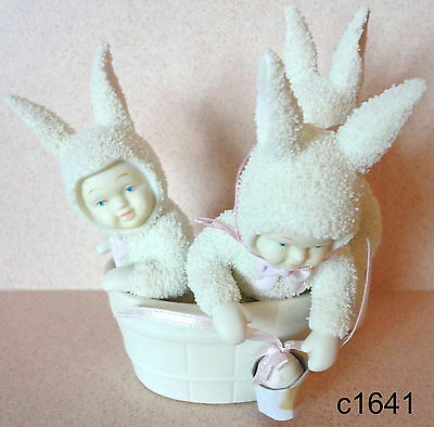 Dept 56 Snowbunnies RUB-A-DUB-DUB 3 BUNNIES IN A TUB Figurine 26115 New In Box