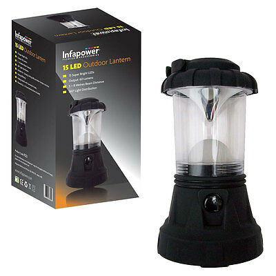 NEW Infapower 15 LED Outdoor Lantern for Camping Hiking Fishing Tent Light Lamp
