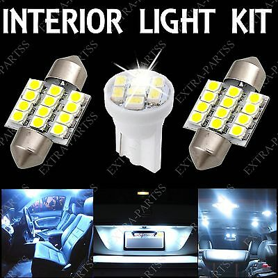 """10X Pure White LED Light Interior package For Map Dome 1.22"""" & License Plate T10"""
