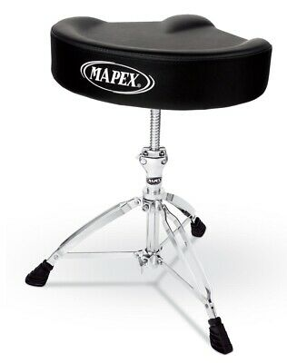Mapex T755 Drum Stool Throne Saddle Top T755A Threaded Shaft