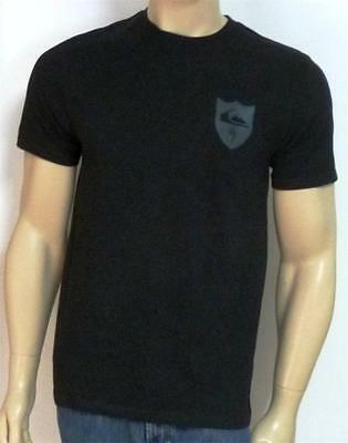 Quiksilver Destroyer Graphic Tee Mens Black Double Logo T-Shirt New NWT