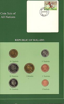 {BJSTAMPS} Coin Sets of All Nations Republic of Malawi 1995-1996 BU