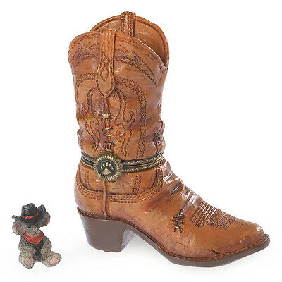 Boyds Bears Cash's Boot w/Whiskey McNibble Country Music Treasure Box ~ 4038017