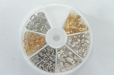 """JEWELLERY MAKERS STARTER KIT; 315 Piece Value Pack AND """"FREE"""" Organizer     #130"""