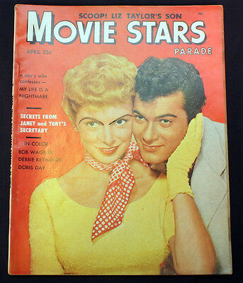 Vintage 1953 Movie Stars Parade Hollywood Magazine Janet Leigh Tony Curtis Cover