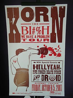 2007 Korn BI#%H We Have A Problem TOUR Sommet Center Nashville Hatch Poster