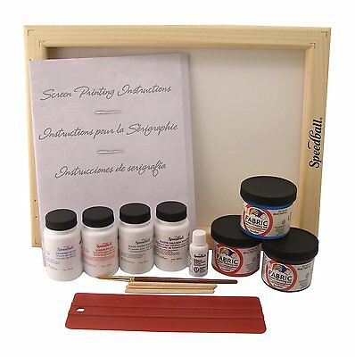 Speedball Super Value Fabric Screen Printing Kit, New, Free Shipping