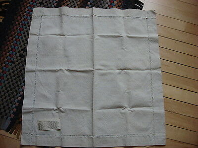 Antique HAND LOOMED & WOVEN LINEN PIECE Satory Family Provenance 26x25