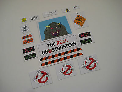 KENNER CUSTOM GHOSTBUSTERS ECTO 1 Replacement Stickers