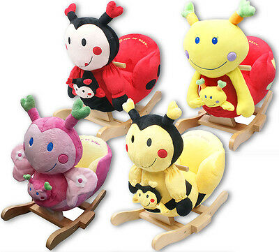 Baby Rocker Rocking Chair Toy Animal Soft Cuddly Musical Babies Sit Up Support