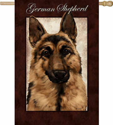 Large GERMAN SHEPHERD Full-Size House Flag Discontinued CLEARANCE SALE