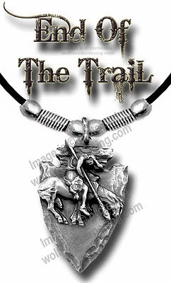 """ARROWHEAD END OF TRAIL NECKLACE for MALE or FEMALE - WESTERN 24"""" L FREE SHIP*"""