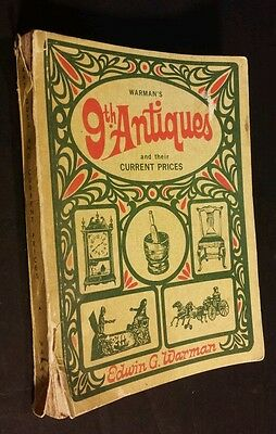 Warman's Antiques and Their Current Prices 9th Edition 1968 Paperback Vintage