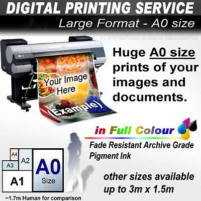Large Format Printer Printing Service: A0 A1 A2 A3 Poster Banner Art Sign Photo